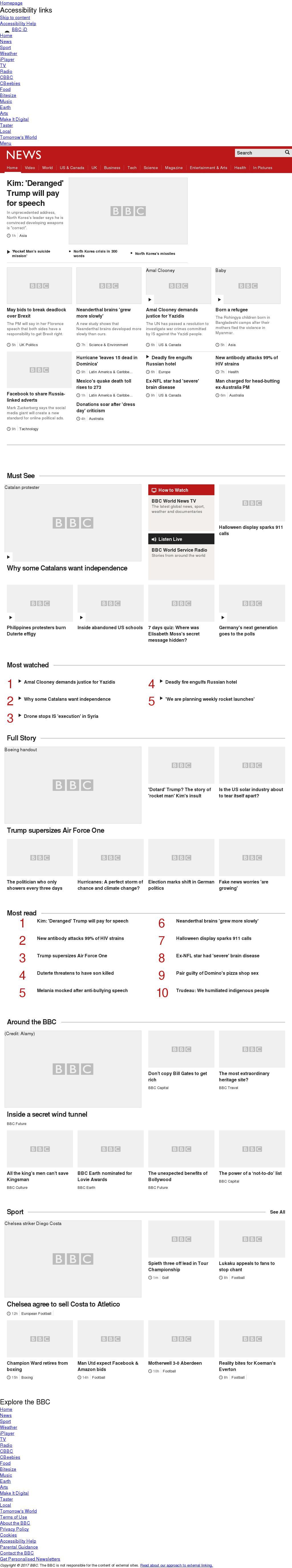 BBC at Friday Sept. 22, 2017, 7 a.m. UTC