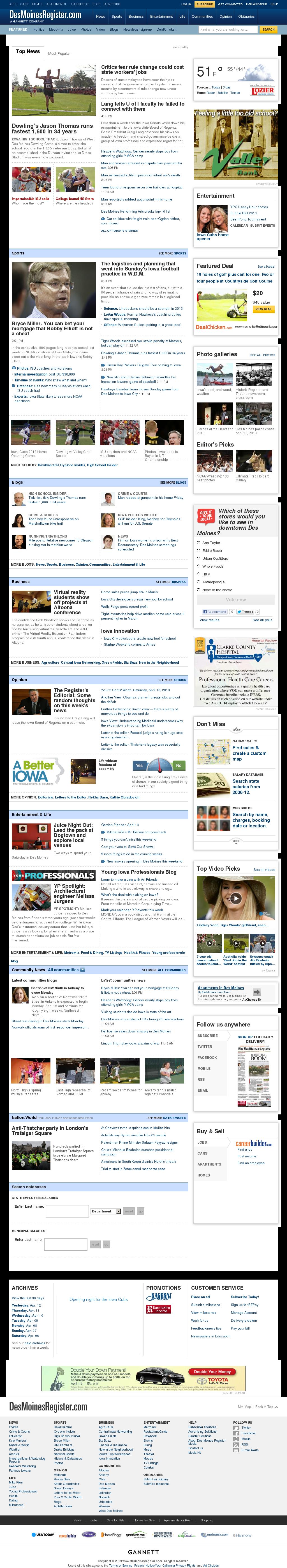 DesMoinesRegister.com at Saturday April 13, 2013, 10:05 p.m. UTC