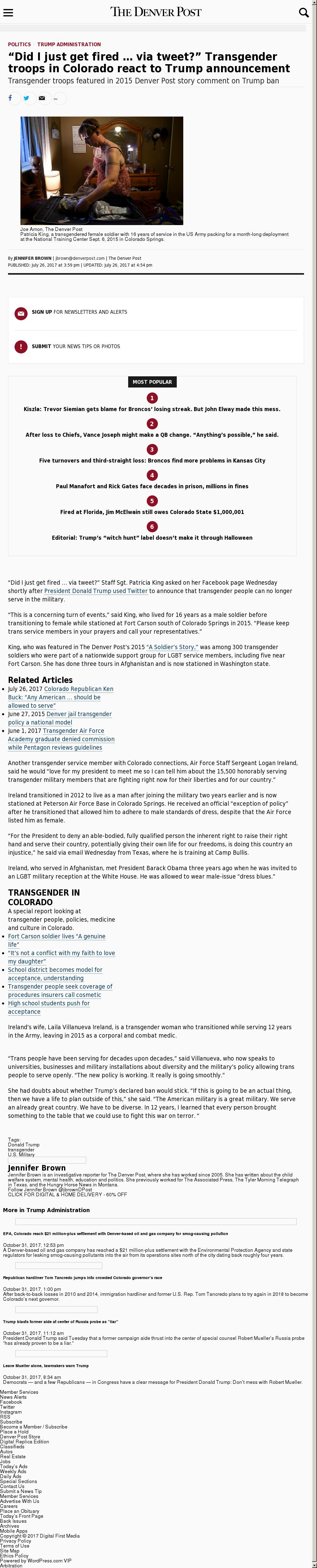 Denver Post at Tuesday Oct. 31, 2017, 7:04 p.m. UTC