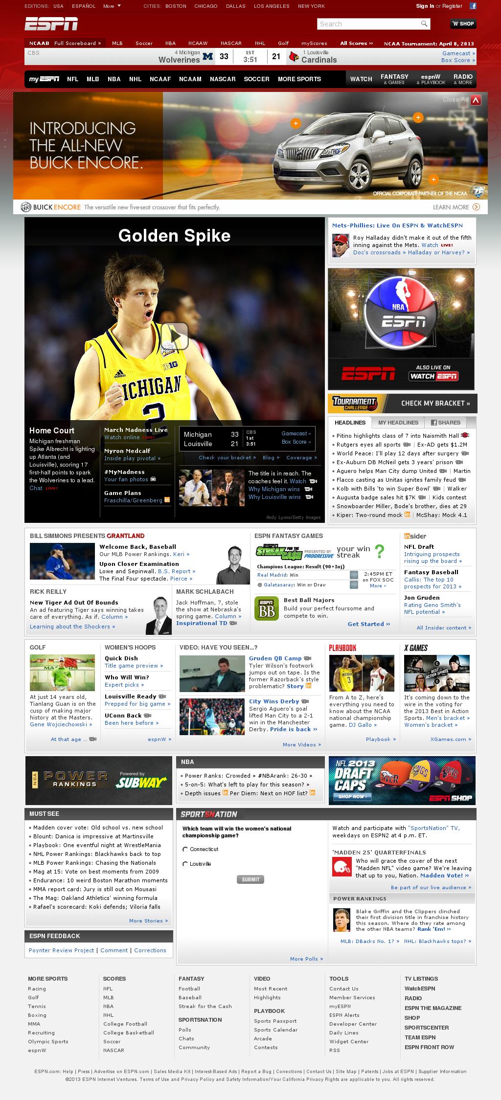 ESPN at Tuesday April 9, 2013, 2:06 a.m. UTC