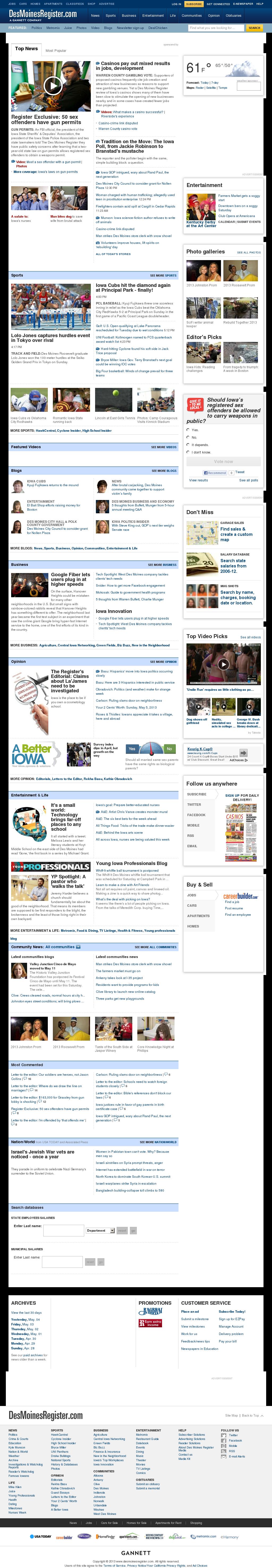 DesMoinesRegister.com at Monday May 6, 2013, 12:05 a.m. UTC