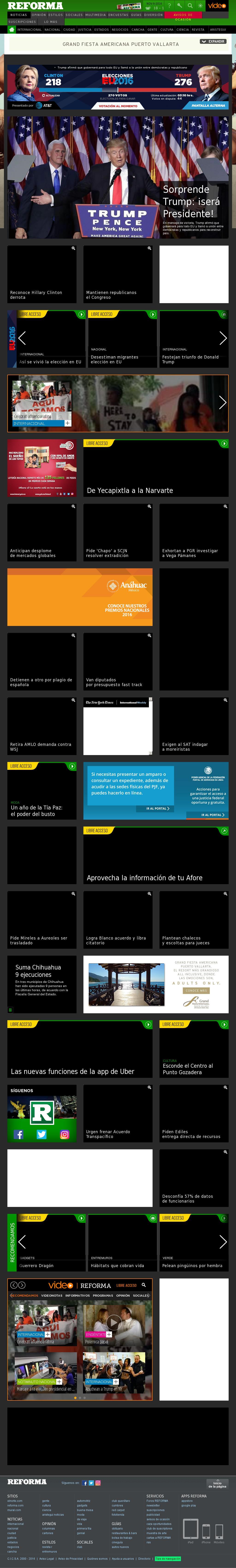 Reforma.com at Wednesday Nov. 9, 2016, 9:17 a.m. UTC