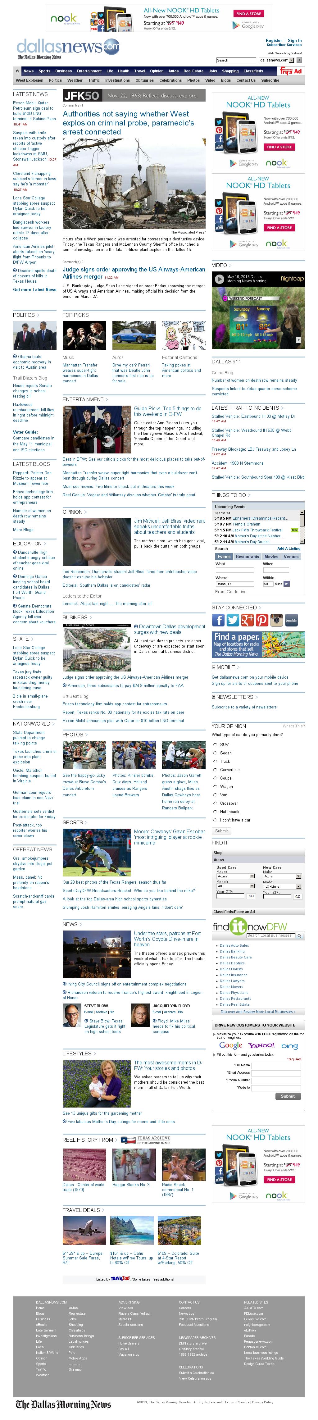 dallasnews.com at Friday May 10, 2013, 5:06 p.m. UTC