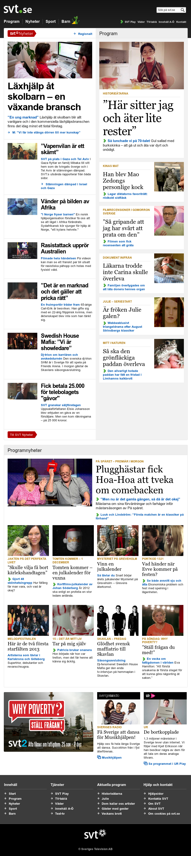 SVT at Thursday Nov. 22, 2012, 11:30 p.m. UTC