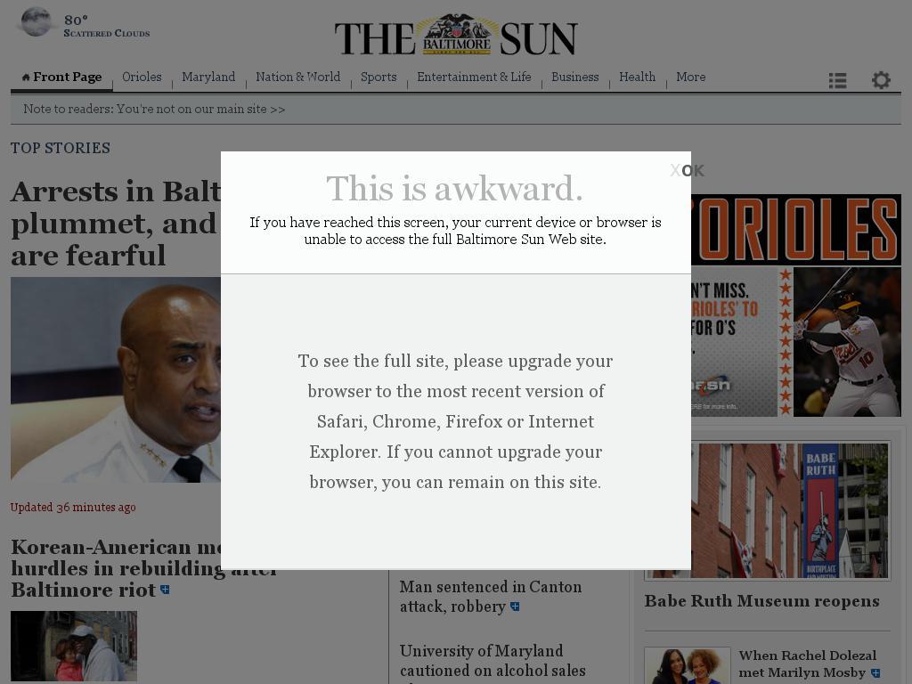 The Baltimore Sun at Sunday June 14, 2015, 3 a.m. UTC