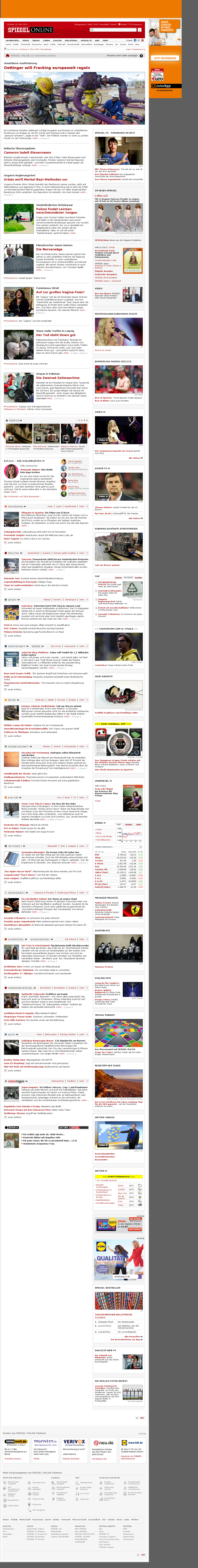 Spiegel Online at Monday May 20, 2013, 6:22 a.m. UTC