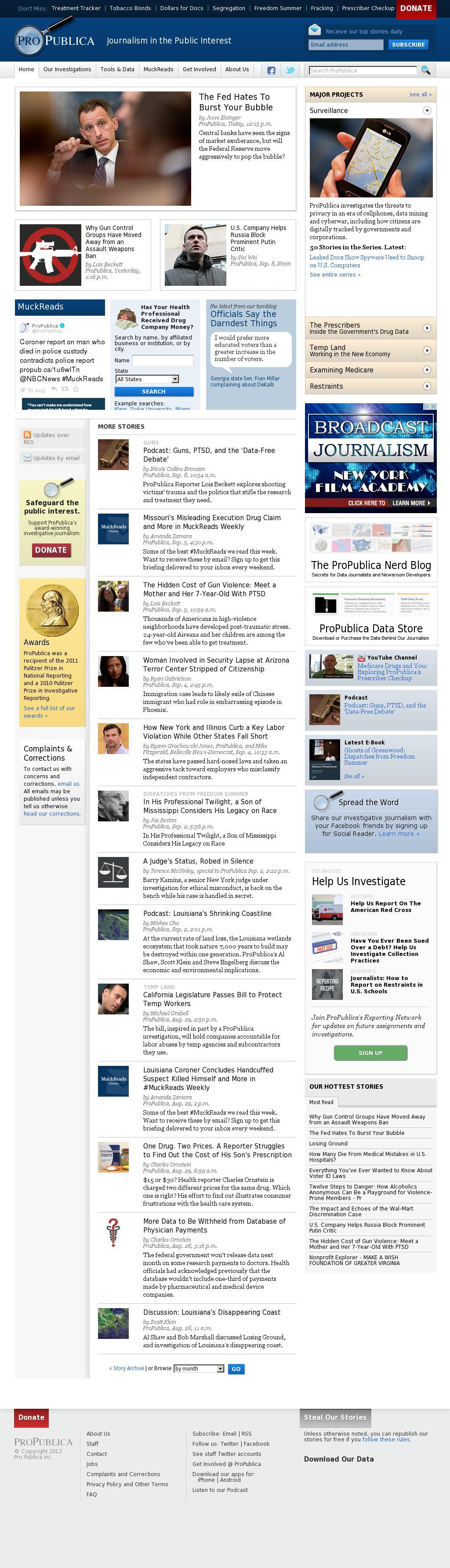 ProPublica at Wednesday Sept. 10, 2014, 11:21 p.m. UTC