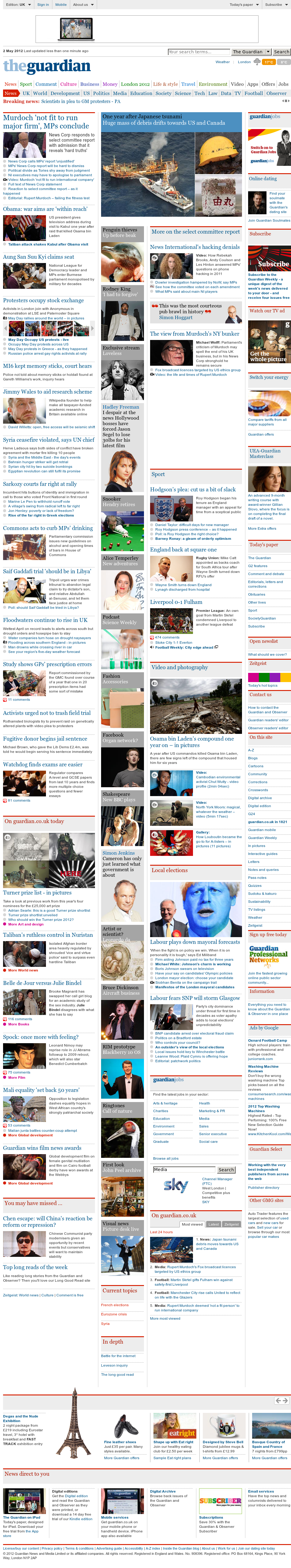 The Guardian at Wednesday May 2, 2012, 7:08 a.m. UTC