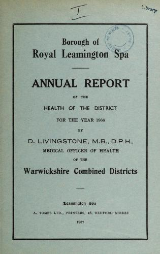[Report 1966] by Leamington (England). Borough Council