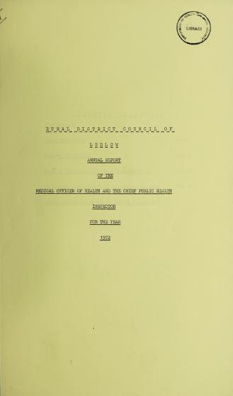 [Report 1972] by Ludlow (England). Rural District Council